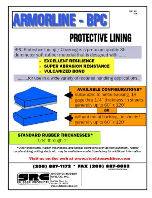Armorline BPC Protective Lining Product Info