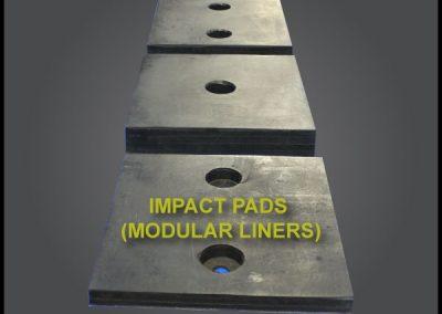Impact pads modular liners